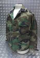 Genuine Vintage US Army Issue Camo Woodland Combat Jacket / Shirt Size M Faulty