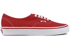 NEW Vans Authentic VN-0EE3RED Unisex Red White Canvas Lifestyle Fashion Sneakers