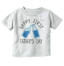Happy First father Day Funny Cute Drink Alcohol Newborn Baby Toddler Infant T