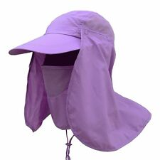 Outdoor Sport Hiking Fishing Hat Sun Protection Neck Face Flap Cap Wide Brim Hat