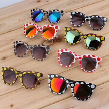 New Fashion Colorful Sunglasses Dots Thick Frame Colorful Film/Gray Lenses BA