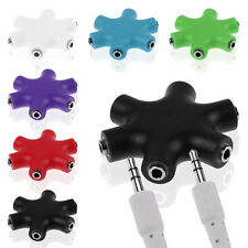 5 Ways Headphone 3.5mm Earphone Audio Splitter Port Adapter Cables For phone Mp3