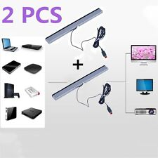 2X Wired Infrared Ray Sensor Bar for Nintendo Wii Remote Controller Pro BA
