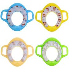 Padded Potty Training Seat Kids Baby Toddler Handle Toilet w/Handle Splash Guard