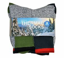 Soxnet Eco Recyled Cotton Thermals Boot Socks 4 Pairs (Color Heel Top)