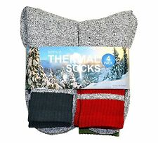 Soxnet Eco Recyled Cotton Thermals Boot Socks 4 Pairs (Colorblock)