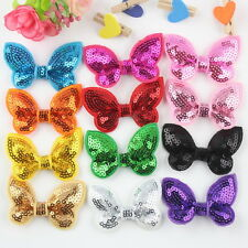 50pcs/lot Baby Girls Toddler Sequin Bowknot Hair Clip Hairpins Hair accessories