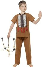 Boys Native American Indian Wild West Cowboy Book Day Fancy Dress Costume Outfit