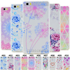 Retro Silicone Slim Soft TPU Rubber Clear Skin Back Case Cover For Huawei Phones