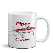 Piper Cherokee PA-28-140 Airplane Ceramic Mug - Personalized w/ N#