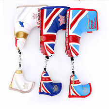 Golf Putter Blade Head Covers Club covers Persian Cat Blue Sky Blue White