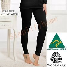 Women's 100% Pure Merino Wool Long John Leggings Pants Thermal Underwear 02