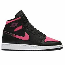 Nike Air Jordan Retro High Black Pink Girls Grade Trainers