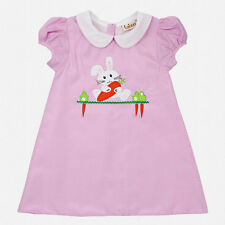 Girls Easter Dress Pink Check Girls Bunny Dress Babeeni NWT Toddler 4T