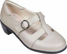 Cosyfeet Extra Roomy Florence Womens Heels Ivory Pearlised 5E Fitting UK 4 5 6 7