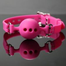 Soft Open Mouth Ball Pink Silicone Harness Gag Ball S M L Size Slave SM Game Toy