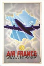 9706 FRENCH TRAVEL vintage ONE-OF-A-KIND home decor gem-Art Silk Cloth Poster