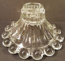 Anchor Hocking-Berwick or Boopie Candle Holders-Clear-Pressed Glass-mid century