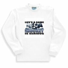 Long Sleeve T-shirt Adult Youth Sports Life's A Game Roller Hockey Is Serious