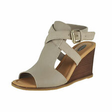 Dr Scholls Celine Taupe Womens Wedge Sandals Size 11M