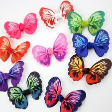 50pcs Butterfly Bow Hair Alligator Clips Girls Ribbon Kids Sides accessories