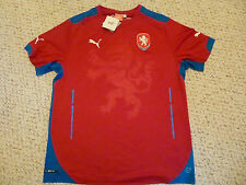 NWT Puma 2014/2015 Czech Republic Red Home Jersey (Men Size Large or XL)