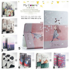 "Cute Cartoon For Apple iPad Tablet 7.9"" 9.7"" Slim Leather Stand Smart Case Cover"
