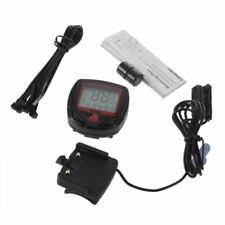 Digital Bicycle Bike LCD Cycling Computer Odometer Speedometer Stopwatch New #B