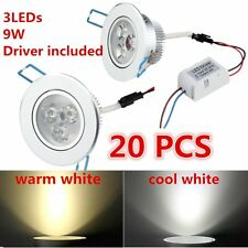 LOT 9W LED Downlight Recessed Ceiling Light Lamp cool/warm white+Driver OG