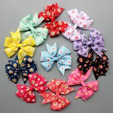 50Pcs Girls Baby Hair Bow Aligator Clip Ribbon Daisy Flowers Hair Accessories