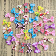 100pcs/lot Small Bow Hair Alligator Clips Girls Ribbon Kids Sides Accessories