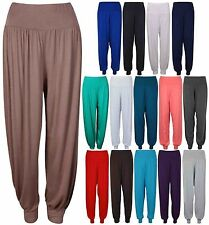 WOMENS LADIES HAREM TROUSERS ALI BABA LONG PANTS BAGGY HAREEM LEGGINGS 8-26