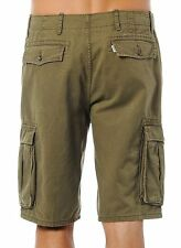 NEW LEVI'S MENS RELAXED FIT ACE CARGO SHORTS #0008 IVY GREEN NWT FREE SHIPPING!
