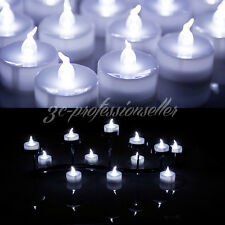 12/24X SNOWY WHITE LED ELECTRONIC FLAMELESS CANDLE TEA LIGHTS BATTERIES INCLUDED