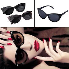 Women Ladies Cat Eye Retro Vintage Style Rockabilly Sunglasses Glasses BE