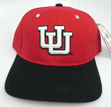 UTAH UTES RED/BLACK NCAA VINTAGE FITTED SIZED ZEPHYR DHS CAP HAT NWT! DEADSTOCK