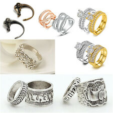 Silver/GlodPlated Adjustable Crystal Shine Women Rings Wedding Jewel Party Gifts