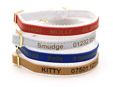 Personalized Cat Kitten Collar, Ancol Quality, Laser Engraved, Custom ID Tag