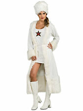 Russian White Soviet Spy James Bond Female Women Costume
