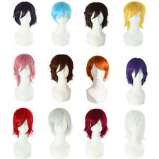 Hot Women Men Anime Wig Short Straight Hair Cosplay Heat Resistant Wigs Fashion