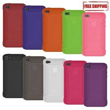 AMZER BRANDED SOFT SILICONE SKIN GEL CASE COVER FOR APPLE iPHONE 4 4S
