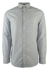 Michael Kors Men's Long Sleeve Striped Tailored Classic Fit Shirt