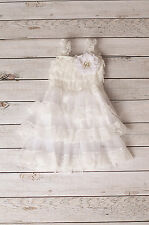 Flower Girl White Lace Chiffon Dress Princess Baby Party Wedding Baby FlowerGirl