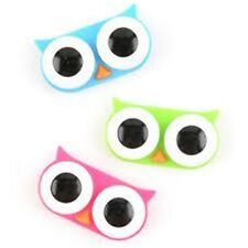 Kikkerland Owl Shaped Contact Lens Case Cases Pink, Blue or Green NEW