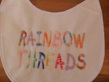 Personalised embroidered  Baby bib vest babygrow sets 6 SHADED colours ANY NAME