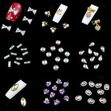 10pcs Alloy Nail Art Tips 3D Rhinestone Glitter Beads Acrylic DIY Decoration