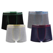 4 Pieces Men Classic Stretchy & Comfy Underwear Boxer with Flat Waistband
