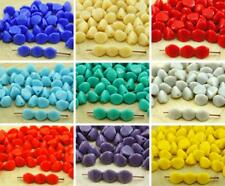 50pcs Opaque Large Pinch Bicone Faceted Czech Glass Beads Spacer 7mm