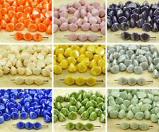 50pcs Luster Large Pinch Bicone Faceted Czech Glass Beads Spacer 7mm