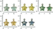 14pcs Czech Patina Antique Silver Tone Star Half Moon Astrology Charms Pendants